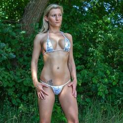 Micro Bikini   Metallic Fantasy   Exklusiv Silber