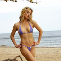 Micro Bikini   Kitel   Lila