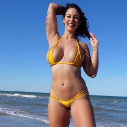 Double Micro Bikini   Shiny Gold   Doppelten Seitenbänder