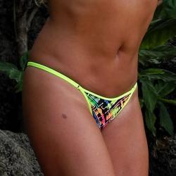 String Tanga | Color Splash | NeonGelb
