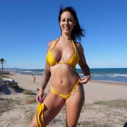 Double String Bikini | Shiny Gold | Doppelten Seitenbänder